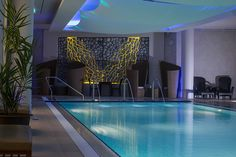 Relax in our Heated Vitality Pool in Spa Sirene at The Royal Yacht Swedish Sauna, Recessed Spotlights, Penthouse Suite, Steam Room, Hotel Spa, Modern Decor, Relax, Anime Dress, Outdoor Decor