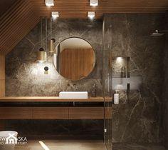 Small Bathroom Layout, Attic Bathroom, Interior And Exterior, Bathroom Lighting, Teak, Mirror, Furniture, Design, Home Decor