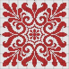 Chart for cross stitch or filet crochet. Cross Stitch Pillow, Cross Stitch Charts, Cross Stitch Designs, Cross Stitch Patterns, Cross Stitching, Cross Stitch Embroidery, Embroidery Patterns, Crochet Patterns, Filet Crochet