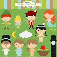 peter pan tink tinkerbell fairy fairies clipart clip art neverland john michael wendy - Neverland Friends Clipart