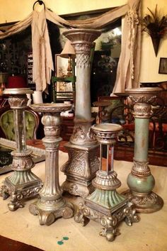 Silver metallic and Seaside Original....Yep you can even do your ugly metal candle sticks.