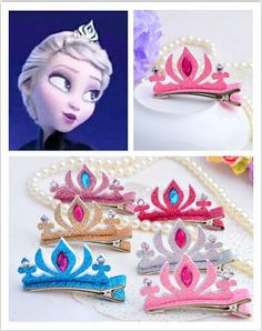 girls hair accessories Picture - More Detailed Picture about New Fashion cartoon Tiaras hairpins girls designer hair accessory stereoscopic crystal colored cartoon crown barrettes Picture in Hair Accessories from QINJIOYI BOUTIQUE Store Frozen Princess, Elsa Frozen, Baby Halloween Costumes, Baby Costumes, Girls Hair Accessories, Fashion Accessories, Girls Tiara, Fix Clothing, Frozen Birthday Party