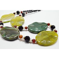 Green Agate Jewelry Statement Big Bead Modern Chunky Boho Necklace,... ❤ liked on Polyvore featuring jewelry, necklaces, gemstone bead necklace, beaded jewelry, evening necklace, bohemian jewelry and chunky boho necklaces