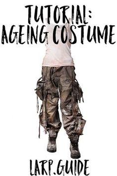 Distressing Costume for Post-Apocalyptic LARP http://larp.guide/2015/10/distressing-costume-for-post-apocalyptic-larp/?utm_campaign=coschedule&utm_source=pinterest&utm_medium=LARP.GUIDE&utm_content=Distressing%20Costume%20for%20Post-Apocalyptic%20LARP
