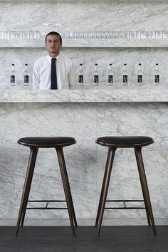 The Capital Hotel, Mexico City, BAR  with Flammant barstools ane marble for days