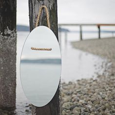 Rope-hung mirror