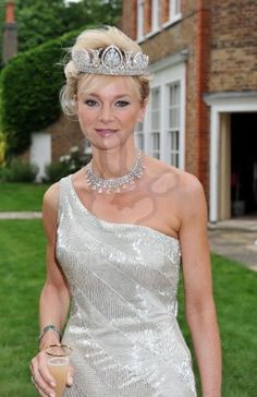 Caroline, Countess of Derby, wearing that fabulous diamond tiara, 2009