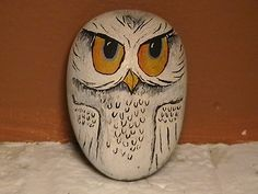 Painted Rock - Owl by Q_uilted T_hrifted, via Flickr
