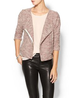 Los Angeles Womens Speckled Moto Jacket