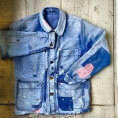 Vintage chore jacket repair +++ via naritabby +++