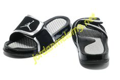4fd18785583501 Nike Air Jordan Hydro 2 Retro Slide Sandals For Men In Black Silver Sale  Online - Nike Slippers