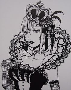 Madame Red as the Queen of Hearts Black Butler 3, Black Butler Anime, Ciel Phantomhive, Spiderman Homecoming Tom Holland, Manga Anime, Madame Red, Spice And Wolf, Anime Tattoos, Black Butler Kuroshitsuji