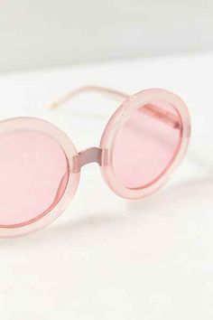 pink round sunglasses - love