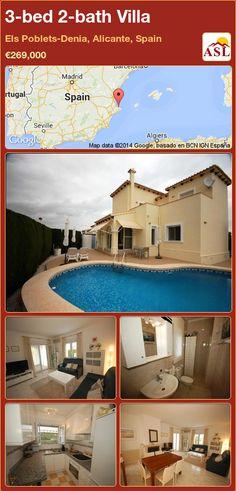 3-bed 2-bath Villa in Els Poblets-Denia, Alicante, Spain ►€269,000 #PropertyForSaleInSpain