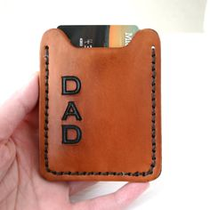 Flip Clip. DAD Mens leather wallet with money clip - Personalize with initial or monogrammed for Fathers Day on Etsy, $44.99