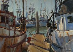 boats by Jim McVicker Oil ~ 10 x 14