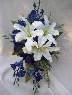 Lauren's Cascade Bridal Bouquet by ArtisticFloralDesign on Etsy, $100.00