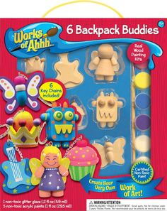6 Backpack Buddies - Wood Painting Kit