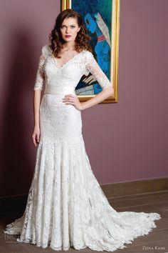 zeina kash bridal 2013 lace wedding dress sleeves