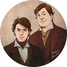 Holmes Brothers by Hallpen.deviantart.com #fanart Sherlock Holmes / Game of Shadows