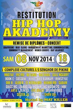 Demain, #restitutionHiphopAkademy au centre culturel #Africulturban infos on #wakhart, la plateforme culturelle. http://www.wakhart.com/events/restitution-hiphop-akademy/