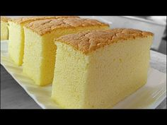 """Ogura cake, aka 相思蛋糕, hails from Batu Pahat , Malaysia. """"Ogura"""" is a Japanese surname; """"相思"""" means lovesick. Is there a love story behind th. Cheesecake Recipes, Cupcake Recipes, Cupcake Cakes, Dessert Recipes, Cupcakes, Bolo Chiffon, Ogura Cake, Bolo Cake, Cake Videos"""