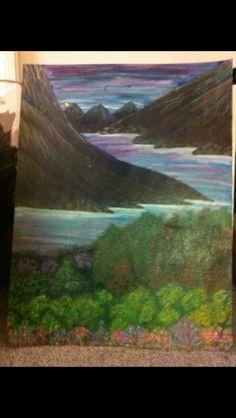 Mountains oil paint