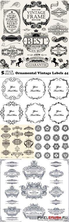 Vectors - Ornamental Vintage Labels 44