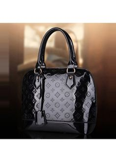 Solid Black Patent Leather Tote Bags for Lady on sale only US$20.03 now, buy cheap Solid Black Patent Leather Tote Bags for Lady at martofchina.com