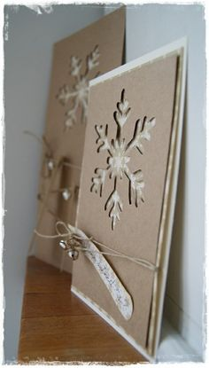 {No instructions.} I'd use a snowflake punch, then glue it on a card. Idea for next year's Christmas cards :)