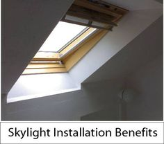 Skylight Installation Benefits Skylights can be selected as a functional source of daylight for a dark room or they can be used as a feature to turn a dark room into the best room in the house. Besides that it has physiological benefits of increased natural light in our environment, as well as aesthetic and design benefits. Here are some great Skylight installation Benefits. Read more about Skylight Installation Benefits at http://florianglass.com/skylight-installation-services/