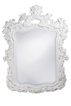 Baroque Mirror, in High Gloss White Lacquer, sharing luxury designer home decor inspirations and ideas for beautiful living rooms, dinning rooms, bedrooms & bathrooms inc furniture, chandeliers, table lamps, mirrors, art, vases, trays, pillows, accessories & gift courtesy of InStyle Decor Beverly Hills enjoy & happy pinning