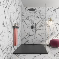 Adorn your walls and floors with beautiful Oikos porcelain marble effect tiles. With a stylish black vein and a polished gloss finish these tiles would make gorgeous marble effect bathroom tiles but please be aware due to the slippery nature of gloss tiles they may not be suitable for all homes.These high quality rectified tiles, have been precision cut allowing for smaller grout lines and a contemporary seamless design ideal for open-plan and larger rooms.