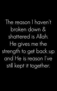 God is the reason I've still kept it together