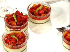 Pannacotta di vaniglia con frutti in zucchero di limetta (kock Paolo Roberto)