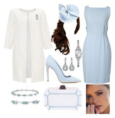 HRH Princess Amélie, Duchess of Primstal attending The Thanksgiving at the Basilica St. Vincent the Martyr by arantxaherrera on Polyvore featuring polyvore fashion style Burberry Monsoon Dee Keller Edie Parker GUESS Amanda Rose Collection NOVICA Chopard clothing