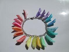 PUMPS  ONLY Barbie Shoe Bracelet Pastel Rainbow  / ITEM 3254. $15.00, via Etsy.
