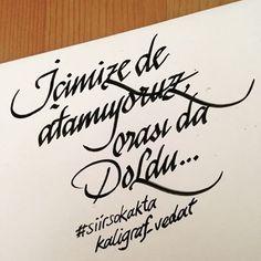 Icimize de atamiyoruz, orasi da doldu... #calligraphy #caligrafia #kaligrafi #guzelyazi #elyazisi #kişiyeözel #dailytype #düğündavetiyesi #lettering #letterer #letters #handmade #handwrite #hatsanati #hattat #tattoo #love #yazisanati #flexiblepen #etkinlik #organization #penporn #dailytype #siirsokakta #guzelsozler #siirduvarda Photo Finder, Brush Pen, Free Stock Photos, Karma, Tattoo Designs, Arabic Calligraphy, Typography, Emoji, Writing