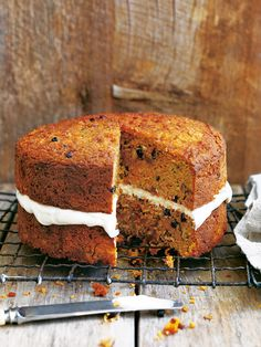 This lightly spiced carrot and coconut cake is gluten-free and a gorgeous end to a sunday meal with the family.