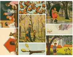 1930s Science Story Illustrations Downloads. 48 Beautiful full color illustrations from a 1930s children's science book. There are lots of nature illustrations, children in both home and at school settings, gardening images, animals and more.