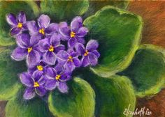 """""""RALS Violet"""" An Original Acrylic Painting by Elizabeth Lee of Richmond, Virginia. Painting donated to Rockbridge Area Leadership Scholarship for an auction and fundraiser 2015."""
