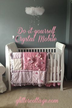 DIY Crystal Mobile - baby nursery decor glittercottage.com