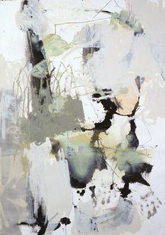 """Mary Nomecos - """"Hand On"""", mixed media on paper"""