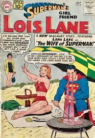Cover pencils by Curt Swan, inks by John Forte. Lois Lane's Childhood, script by Jerry Siegel, art by Kurt Schaffenberger; Lois and Kal-El's childhood are paralleled on different worlds, amazingly the future Superman is still able to save Lois's life.