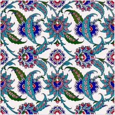 Turkish tile.                                                                                                                                                                                 More