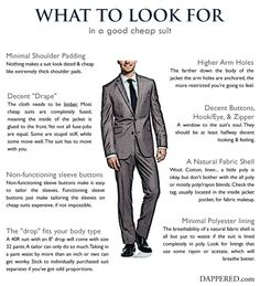 What To Look For In A Good Cheap Suit by Dappered.com