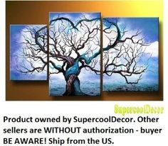 Amazon.com: Modern Oil Painting on Canvas Stretched Framed on Wooden Frame - Origin of Life: Home & Kitchen