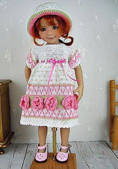 Knit-Dress-for-Dianna-Effner-Little-Darling-13-made-by-Ullas-Mom-Kirsti. Ends 3/8/15. SOLD for $66.75