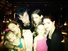 Elvis' family 2013 - Lisa's Daughter & Son -  Riley & Ben Keough, Lisa Marie, Priscilla and Finley & Harper (Lisa's twins)