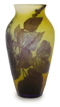 A Galle cameo glass vase circa 1900EMILE GALLÉ (1846-1904) More Pins Like This At FOSTERGINGER @ Pinterest